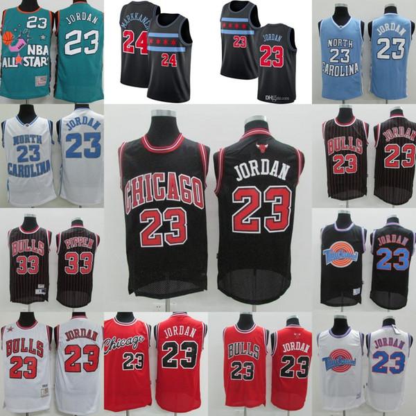 best selling Mens Chicago 23 Michael Jodan Bulls Jersey LaVine 8 Zach Markkanen 24 Lauri Scottie 33 Pippen North Carolina Michael Basketball Jerseys