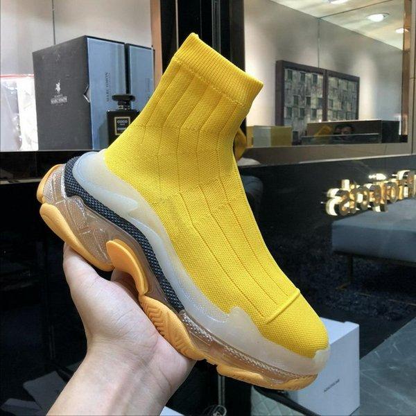 the latest cf974 63451 Acquista Nuovi Arrivi 2019 Donne Di Marca Calzino Giallo Scarpe,  Piattaforma Di Marca Sneakers, Progettista Stivaletti Causale Papà Scarpe  35 39 ...