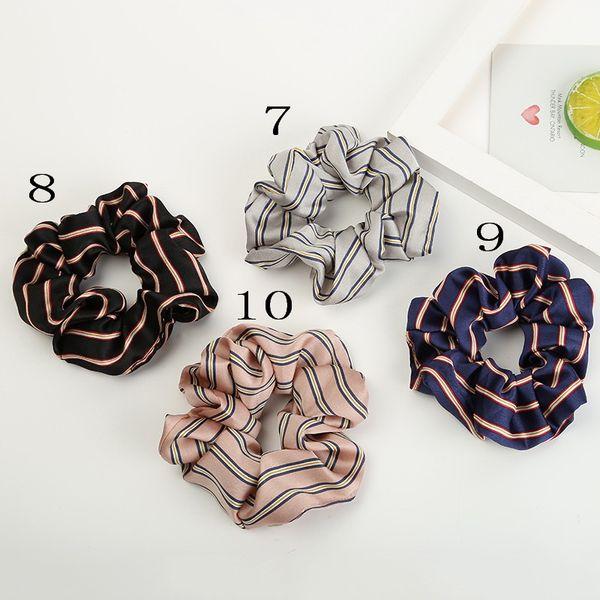 Fashion Women Plaid Stripe Hair bands hair Scrunchies girl's cute Elastic Hair Tie Accessories Ponytail Holder Rope headwear 50PCS FJ3367