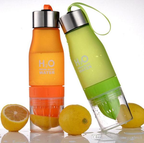 Lemonade Cup Gift 650ml My Water Bottle H2O Plastic Fruit Infusion Bottle Infuser Drink Outdoor Sports Juice lemon Portable Water Bootle