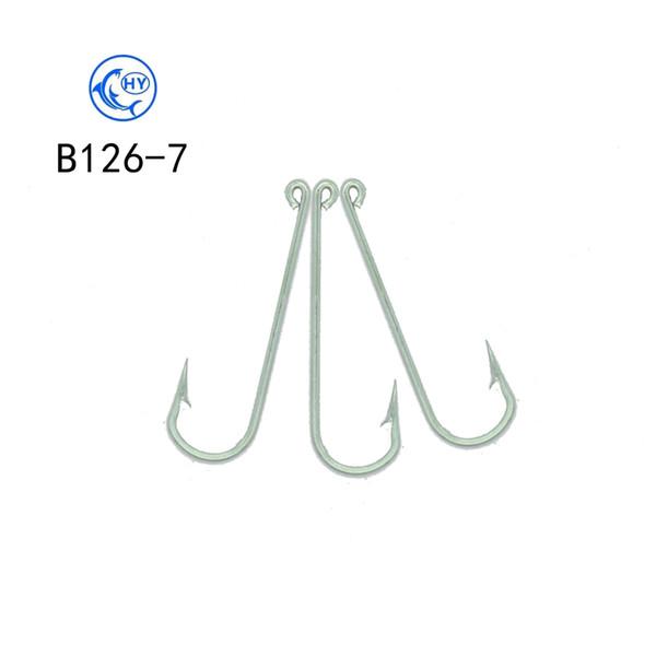 100pcs high quality 304 stainless steel fishing hook squid hook sea hooks ship hooks type B126-7 free shipping