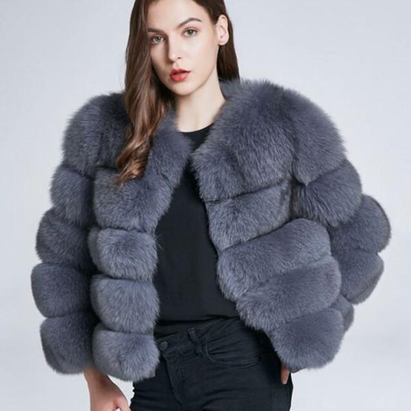 S-3XL Mink Coats Women 2018 Winter New Fashion Pink FAUX Fur Coat Elegant Thick Warm Outerwear Fake Fur Jacket Chaquetas Mujer