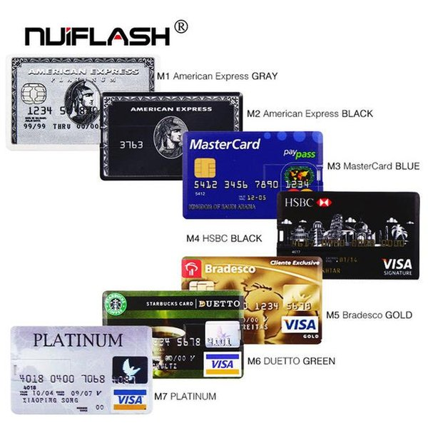 High quality Credit Card USB Flash 8GB 4GB 16GB cle USB 2.0 flash stick 32GB Pen drive memory stick 64GB pendrive real capacity USB key