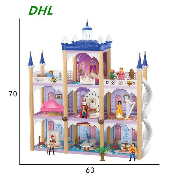 Sylvanian Families Big Doll House Castle DIY Casa Bambole Luxury Villa Large Palace Casa De Boneca Christmas toys for Play house