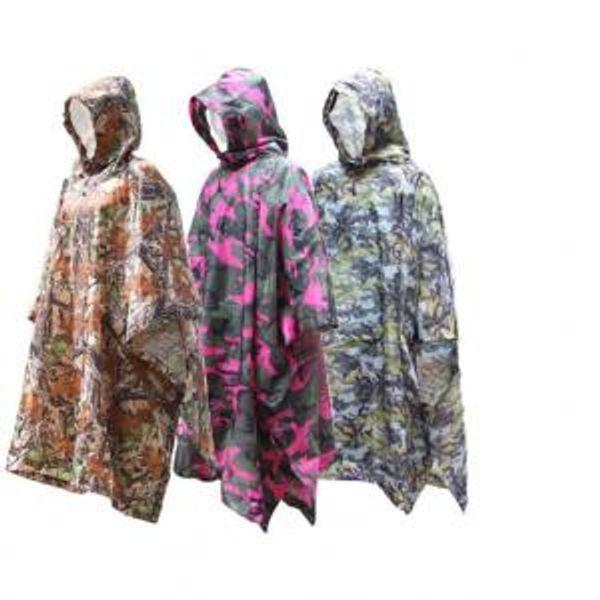 Camouflage Raincoat 3 in 1 Adults Polyester Waterproof Rain Coat Motorcycle Camping Climbing Fishing Outdoor Poncho Rainwear OOA6174