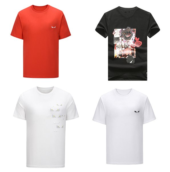 best selling 2020 Designer Letter white shirts mens t-shirts brand clothing short sleeve summer calssic luxury Business Casual tops tee