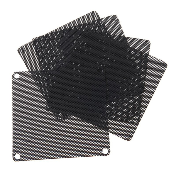Fans & Cooling 5PCS 80mm Mesh Black Nylon Plastic PVC Fan Dust Filter PC Dustproof Case Cuttable Computer