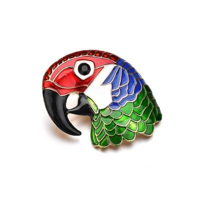 Enamel Colorful Bird Insect Brooches Pin Women Men Jewelry Cute Hijab Pins Suit Lapel Fashion Wedding Jewelry b413