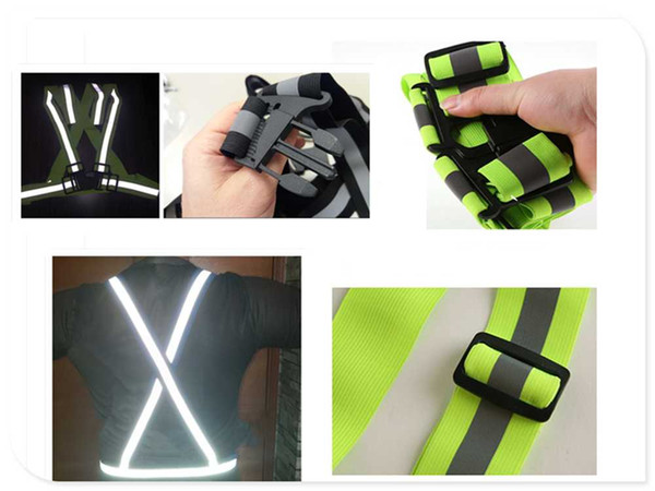 Car motorcycle night safety running riding reflective vest jacket for KIA SOLARIS Verna IX25 IX35 IX45 Sonata