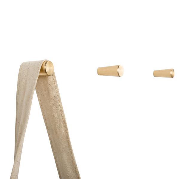 Brass Hook Porch Nordic Modern Metal Wall Hangings Single Hook Pure Copper Golden Decorative Coat Hook