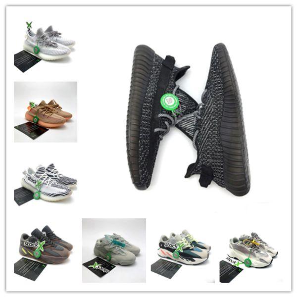 Adidas Yeezy 350 V2 Clássico V2 Kardashian V2 GLOW PRETO REFLEXIVO VANTA LUNDMARK ANTÍLIA SYNTH BRINQUEDO ARTESANATO Designer Shoes X Stock