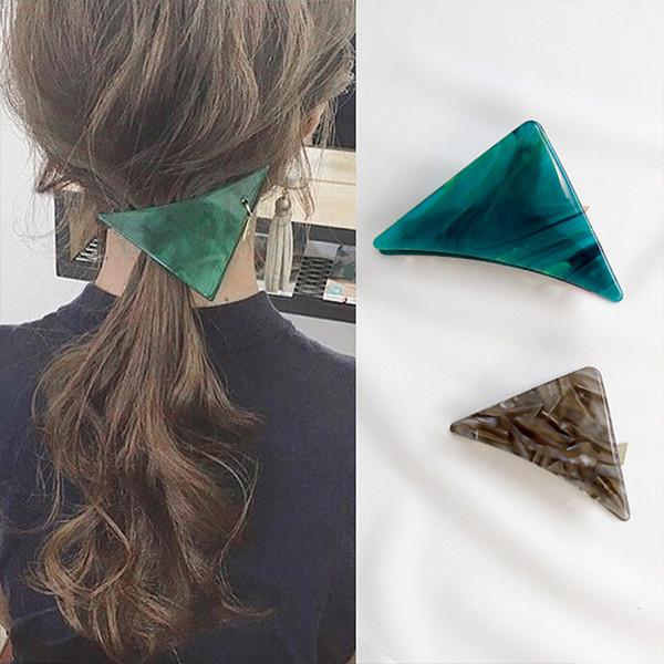 top popular New Hot Resin Acetate Hair Clip Women Hair Accessories Clip Girls Hair Pins Sweet Daily Headwear Barrette For Women Girls 2019