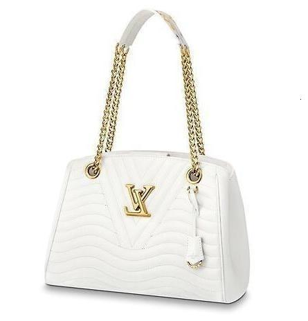 M51978 f New Wave Chain Tote White Real Caviar Lambskin Le Boy Chain Flap Bag Handbags Shoulder Messenger Bags Totes