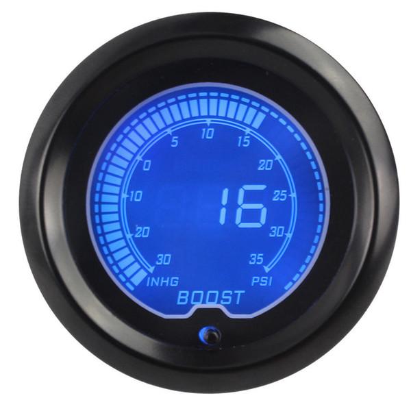 1 pzas 7 colores Coche universalmente LED Pantalla digital Boost Gauge 30-35psi Con Turbo Sensor Boost Gauge