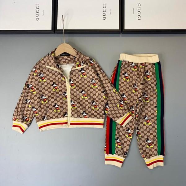 2019 nouveau costume de haute qualité à manches longues deux pièces enfants velours1909015 # 0000257