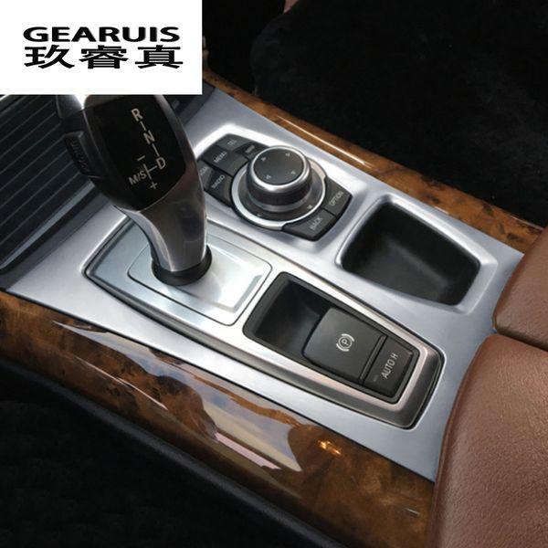 Car Styling Center Console Gangschaltung Panel dekoration rahmenabdeckung Aufkleber trim für BMW X5 E70 X6 E71 Innen Auto Zubehör