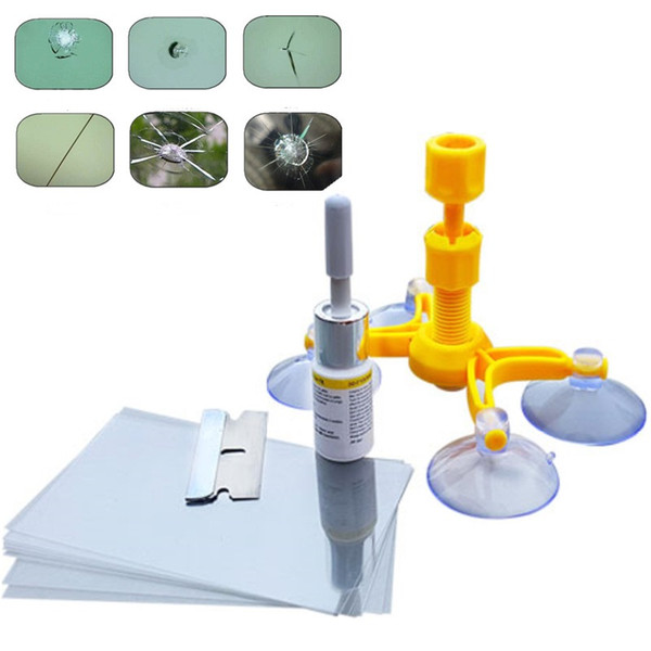 2018 New Car Windshield Glass Repair Fillers Tool Kits For Restore Hole Crack Scratch On Windscreen Seamless Recover Sealants