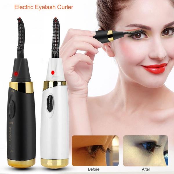 Women Makeup Electric Eyelash Curler Long Lasting Eye Lash Heated Extension Eyelashes Curling Eyelash Curler Device Beauty Gift