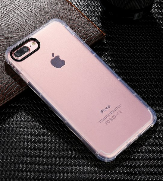 Case for Apple iPhone 7 / 8 Plus case , Shock-Absorption Bumper Soft Cover, Anti-Scratch ,Cellphone housing Clear Back (HD Clear) 30pcs/lot