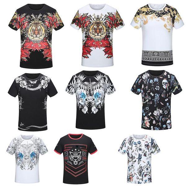 19ss mens designer t-shirts de impressão em torno do pescoço t-shirt algodão lazer hip hop alta-qualidade moda feminina de manga curta dos homens sh