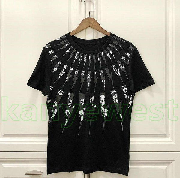 19ss nuovi uomini di estate delle donne fiore lampo stampa t shirt mens designer magliette di buona qualità magliette mens vestiti in cotone casual top tee