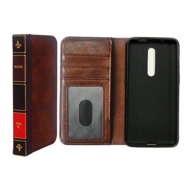 Hot Sell Flip Leather cell Phone Case for Xiaomi Redmi K20 / K20 pro Cover Wallet Retro Bible Vintage Book Business Pouch