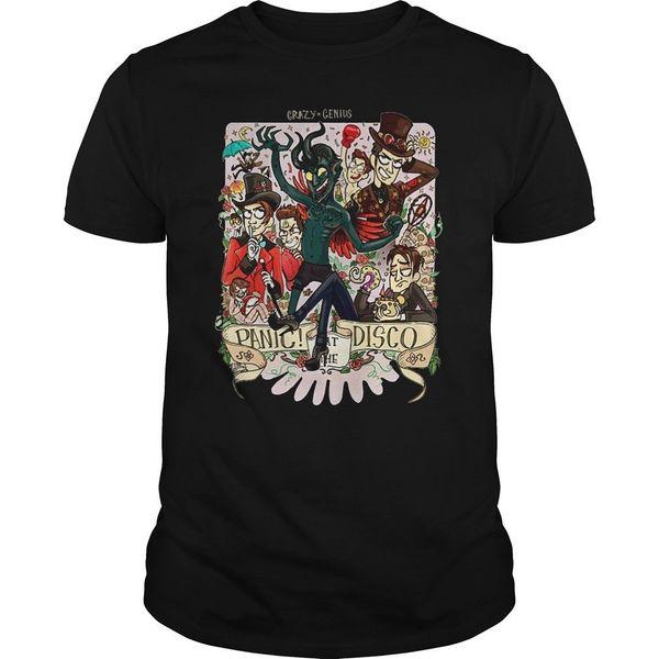 Disco 셔츠 만화 T 셔츠 남자 Unisex 새로운 유행 Tshirt 느슨한 크기 정상 Ajax 2019에있는 미친 천재 공황 재미 T 셔츠
