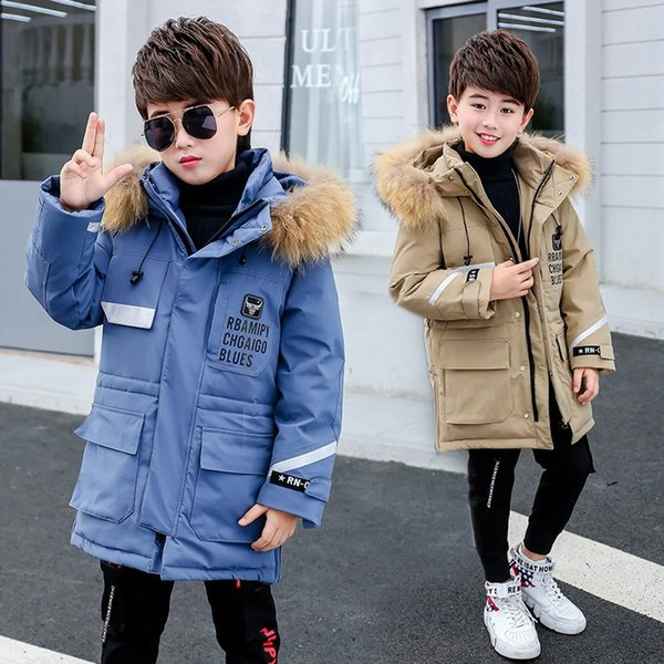 Christmas Winter Jacket Kids Snowsuit Baby Boy Girl Parka Coat Down Jackets For Girls Child Overalls Kids Clothing Parkas