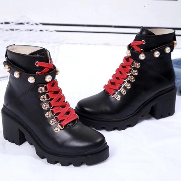 Cuir Fashion Star Femmes Chaussures Femme Cuir court Automne Hiver cheville Designer Fashion Marque Femmes Chaussures 1A
