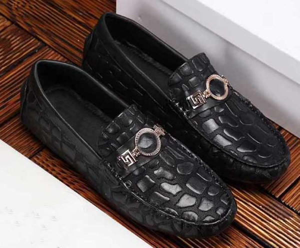 2019 new arrival! European station male spring male leather Korean version of the soft bottom lazy men's shoes