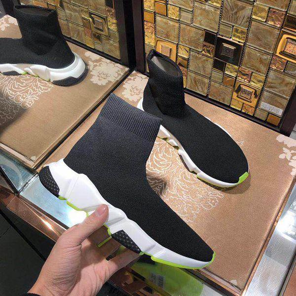 2018 naw Speed Socke hochwertige Speed Trainer Freizeitschuhe für und Damenschuhe Speed Stretch-Knit Schuhe Mittlere Sneakersgröße mit Box35-40