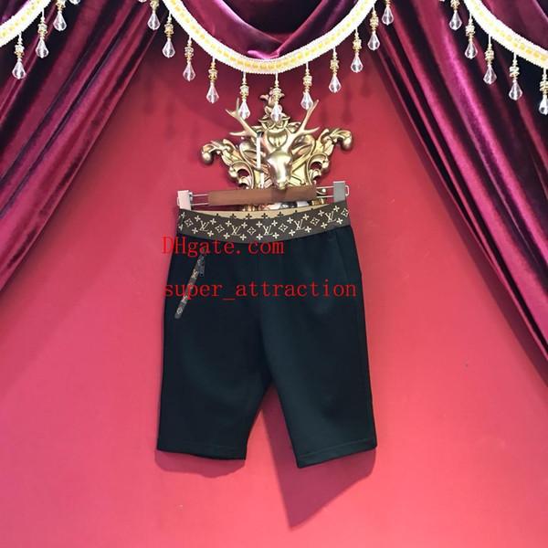 2019 nouvel été shorts pantalons Motif imprimé élastique bande shorts mode genou longueur pantalon court top qualité femmes vêtements ABC-11