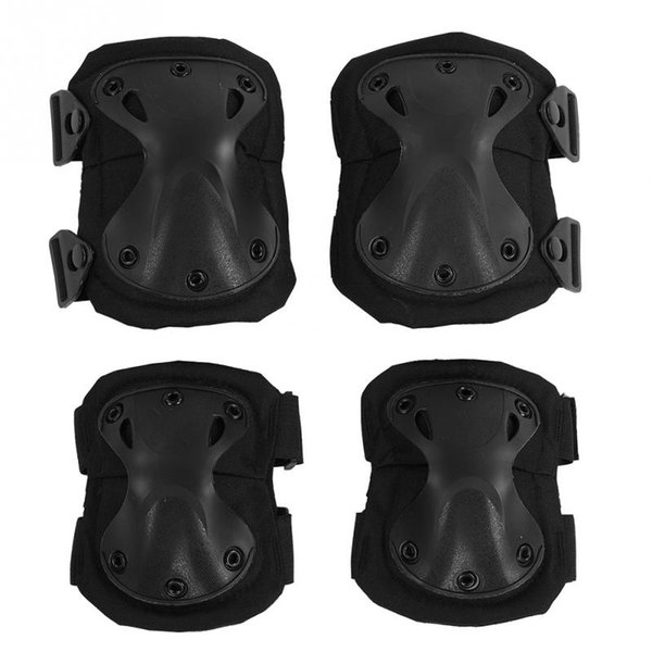 Sports Safety 1pair Elbow Pad 1 pair Knee Pads Kit Adjustable Climbing Skate Cycling Protection Tactical Knee Elbow Support Pad #293487
