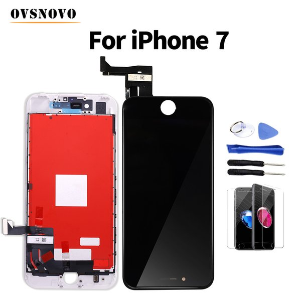 Ovsnovo + LCD For iPhone 7 Display Digitizer Assembly Replacement Screen+Glass Protector&Tools White/Black No Dead Pixel