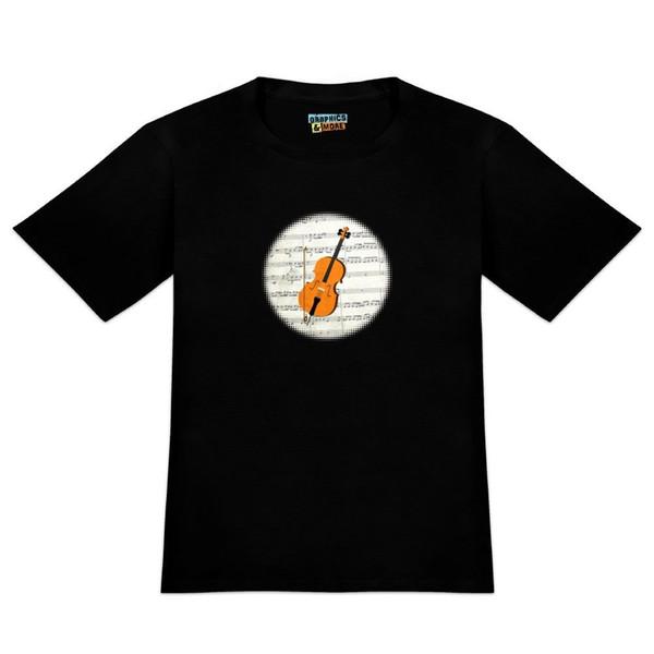 Cello Sheet Music Notes Treble Clef Men's Novelty T-Shirt Size Discout Hot New Tshirt Colour Jersey Print T Shirt