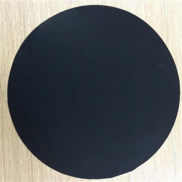 Yapışmaz Tencere Pot Ped Ev Potholder Isıya Dayanıklı Pan Mat Yuvarlak Ultra Hafif İnce 24 cm Pratik Siyah 1 8mn C1