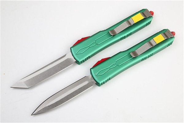 2 Styles UT Hunter Double Action Automatique Couteau De Poche VG10 Lame En Aluminium Manche En Plein Air Tactique Survie Camping Couteaux J18M R