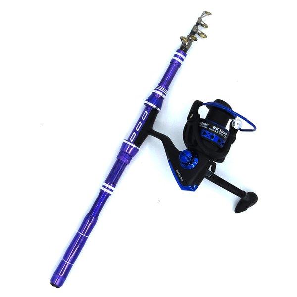 1.8-3m rod combo short hard travel rod set boat rock telescopic spinning fishing rod with reel carbon pesca pole thumbnail