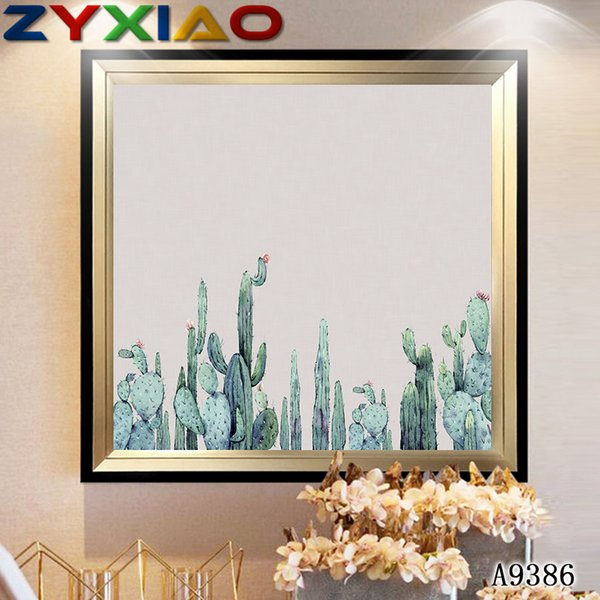 ZYXIAO Big Size Oil Painting Art flower green cacti Home Decor on Canvas Modern Wall Art No Frame Print Poster picture A9386