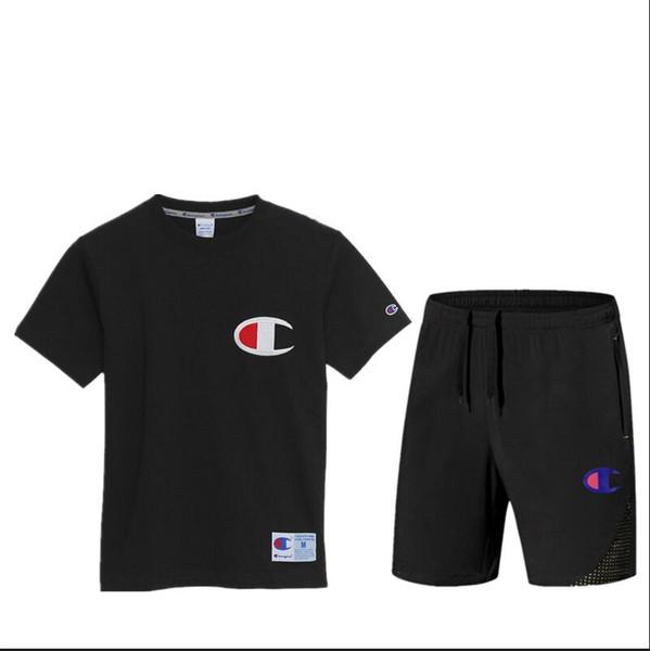 Marca de moda Chándales para hombre Ropa deportiva con letras de marca Verano manga corta jersey Casual Jogger pantalones traje ropa 3 colores