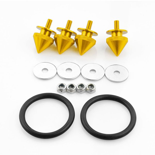 Quick Release Fasteners For Front Bumpers Rear Bumpers Reinforcement Ring Black