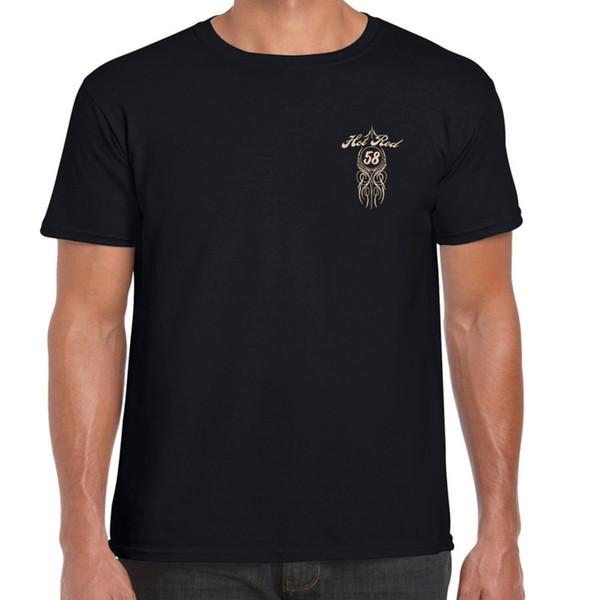'S T Nuova camicia degli uomini 2018 vendita calda shirt Mens Hotrod 58 Hot Rod T personalizzato V8 American Classic Vintage O-Collo Tee