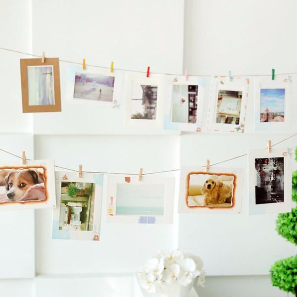 DIY Kraftpapier Fotorahmen für Bilder Vintage Rahmen Foto DIY Baby Halter Hochzeit Wand Dekor
