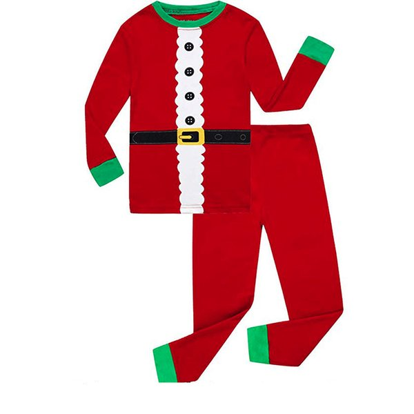Carácter niños bebés niñas niños Conjunto de ropa Bebé Niños Patchwork Tops Pantalones Pijamas familiares Ropa de dormir Conjuntos de Navidad a juego
