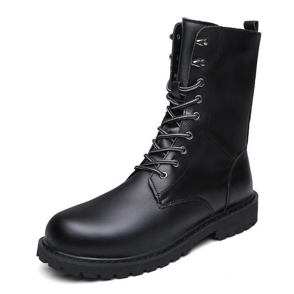 Bottes militaires pour hommes Chaussures d'hiver pour hommes en cuir Bottes en cuir Chaussures Bottes de cow-boy tactiques Hommes Chaussures de sport