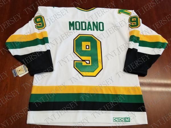 Cheap custom Mike Modano Vintage Minnesota North Stars CCM Jersey Stitched Retro Hockey Jersey XS-5XL