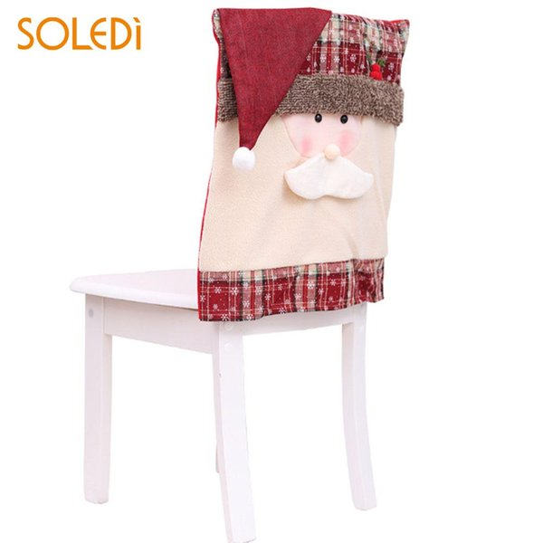 Christmas Seat Cover Cap Chair Cover Lovely Nonwoven Fabric Party Home Decoration Restaurant Seat