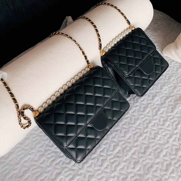 Free shipping New European two size pearl bagstyle classic Ladies shoulder bag Handbag Shoulder handbag pure nice quality for female giltter