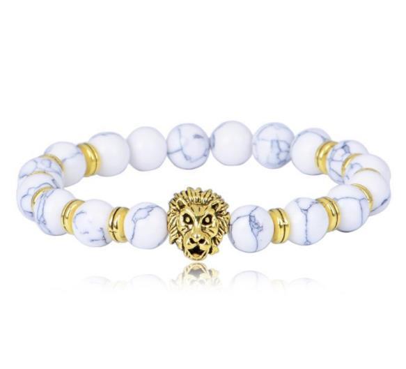 Pierre de lave pierre BRACELET perles étonnantes perles punk lion bracelet poignet exclusif bijoux ornements charme bracelets bracelets bijoux de yoga W91