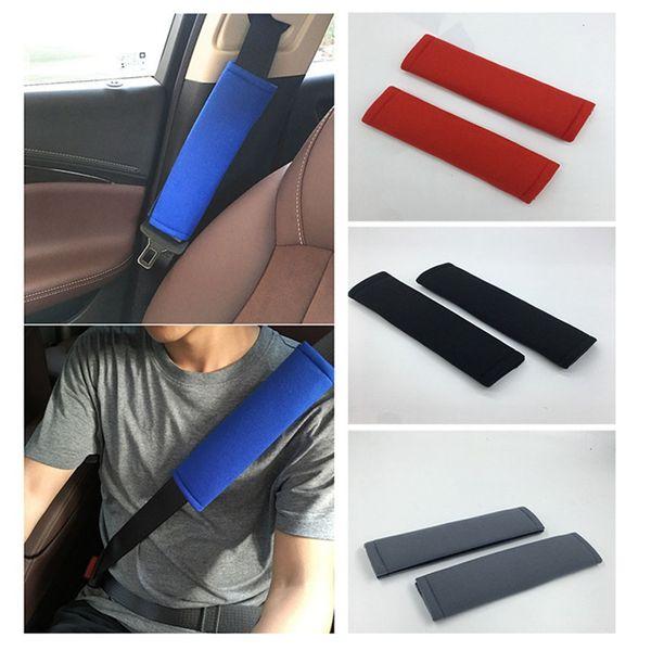 Juego de 2 fundas acolchadas para cintur/ón de seguridad de coche para adultos y ni/ños SUNTRADE negro